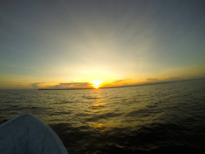 Sunset on our night dive tour.