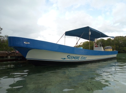 Seemore Time, our 28ft dive boat